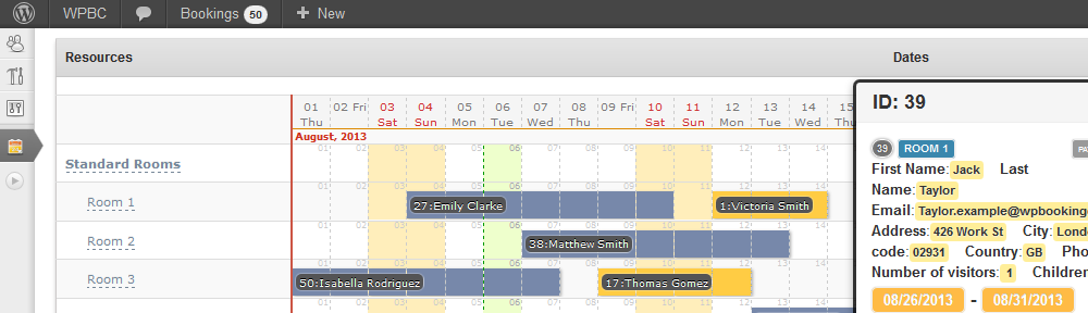 Booking Calendar MultiUser